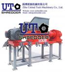 double shaft shredder-paper factory plastic waste, scrap plastic strip, plastic rope, plstic strap, packing belt crusher