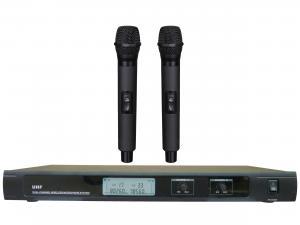 China Système sans fil à canal double de microphone de la fréquence ultra-haute LS-7800 avec le CASQUE de l'AGRAFE MIC d'affichage à cristaux liquides/diversité vraie on sale