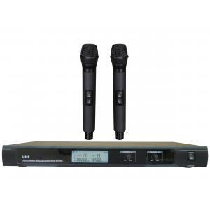 China Sistema sem fio de duplo canal do microfone da frequência ultraelevada LS-7800 com os AURICULARES do MIC do GRAMPO do LCD/diversidade verdadeira on sale