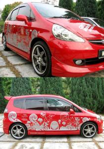 China Logo Printed Pvc vinyl Auto Body Decals , trunk bumper / automotive graphics decals on sale