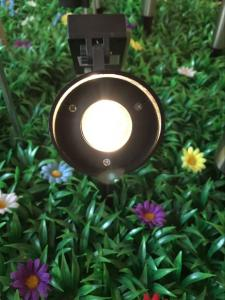 China Stainless Steel Landscape Mono Crystal Solar LED Spotlight With Black Finished on sale