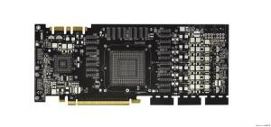 China 0.25mm Black 94v0 FR4 Multilayer PCB Board With Gold Finger Impedance Control on sale