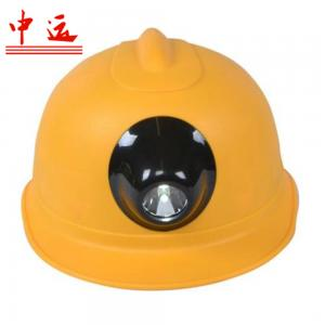China V-shape Coal Miner Hard Hat with Light on sale