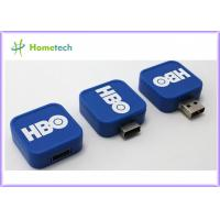 White Blue Red USB Flash Drive / Twist USB Sticks Promotional for School