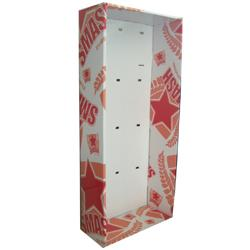 China 4C offset printing Easy - assembling Power Wing Display Freestanding Rack with hooks on sale