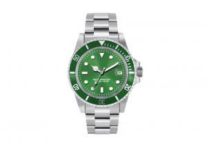 China Sapphire Glasses Analogue Silver Waterproof Watch  , Green Quartz Watch on sale