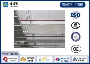 China Eco Friendly Glass Smoke Curtain , Wind Resistant Smokey Blue Curtains on sale