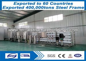 China Environmental Painted Commercial Metal Buildings With Q235B Bracing on sale