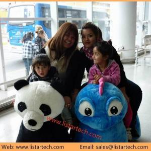 China battery motorized animals ride walking stuffed animals car painting games on sale