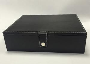 China Professional Earring Jewelry Box , High End Black Jewelry Box Eco - Friendly on sale