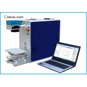China 20W Air Cooling Portable Fiber Laser Marking Machine With Rotary Devices on sale