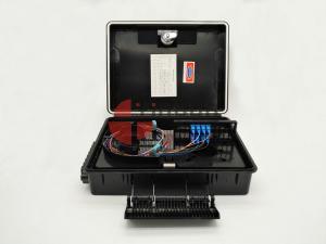 China 24 Cores Drop Cable Fiber Opitc Termination Box, 24 pcs SC Fiber Optic Splitter Box PC+ABS Flip Cover on sale