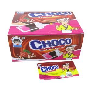 China 8g*36pcs Box Pack 3 In 1 Chocolate Chips Cookies Customize Flavors Milk , Strawberry And Chocolate Snack on sale