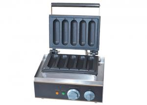 China Electric Grilled Hot Dog Waffle Machine For Snack Bar 220V 1550W on sale