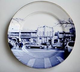 China Full Decal Printed Ceramic Dinner Plates with Custom Design,Microwave and Dishwasher Safe on sale