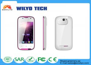 China WC3 3.5 inch Touch Screen Cell Phones MT6572 3g Unlocked Gsm Wifi White on sale