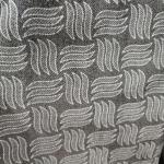 Car Seat Cover 150cm 100 Polyester Upholstery Fabric 200gsm Gray Color