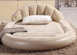 China Low Round Inflatable Air Mattress King Size Flocked PVC Material 13 . 6KG G . W . on sale