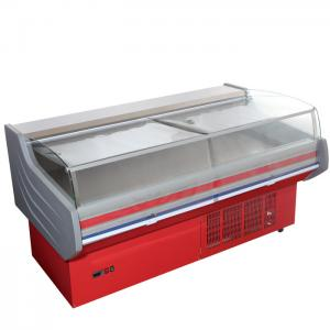 China Store Frost Free Meat Display Refrigerator Counter CE ROHS With Curved Glass on sale