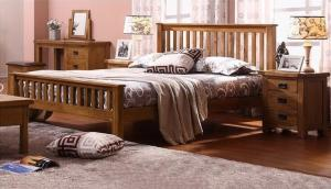 China Comfortable Real Wood Bedroom Furniture , Economic Solid Cherry Bedroom Furniture on sale