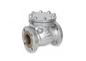 China Modular Design Cast Steel Swing Check Valve , WCB Check Valve RF Flange End on sale