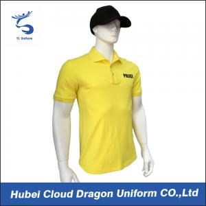 China Long Fiber Cotton Yellow Security Shirt For Tactical / Police Duty , Styles Customized on sale