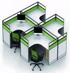 Simple Melamine Office Partition Walls Environment - Friendly PE Painting