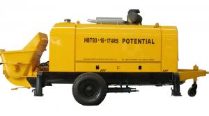 China S valve trailer/stationary concrete pump with VOLVO Engine on sale