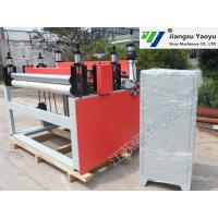 China Textile Leather Roll Slitting Machine Four Column Computer Control System on sale
