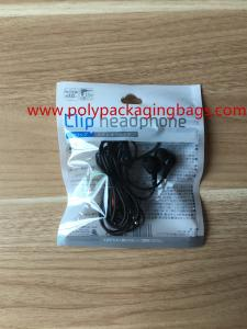 China Hanger Hole Foil Ziplock Bags Packaging Bluetooth Headset Electronic Products on sale