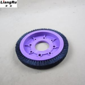 China Textile Machinery Stenter Brushes Roll Cotton Spindle Nylon Bristle Aluminum Body on sale