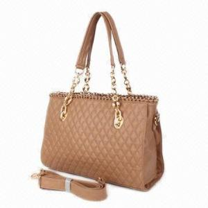 China Brown Trendy Crossbody Leather Bags For Women Office Working on sale