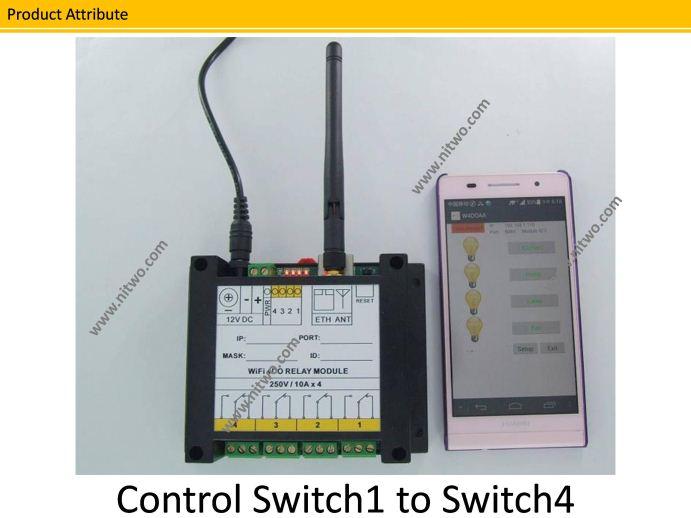 WiFi 4DO Module 4 OM Relay 220V 10A Network Ethernet WiFi