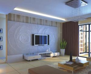 quality pu 3d decorative wall panel 60cm 60cm for tv sofa background for sale