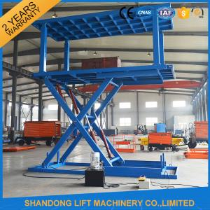 China Portable Scissor Lift Car Hoist Double Deck Car Parking System with Overload Protection on sale