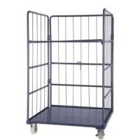 Folding Warehouse Storage Rolling Cage Container Trolley