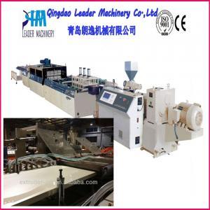 China wood plastic composites WPC foam door plate production machine on sale