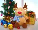 Unique ELK Stuffed Animal , Animated Christmas Stuffed Animals For Children
