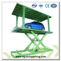 Four Post Parking Lift with Pit/Car Post Parking Lift/ Double Car Parking System/ Underground Double Parking Lift