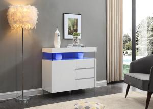 China Contemporary Style High Height Sideboard With Led light / Three Drawer on sale