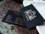 Eco Friendly Hot Foil Stamping Business Cards , Premium Matte Business Cards
