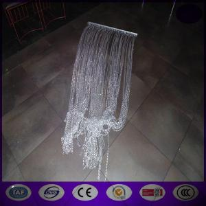China Shiny Silver Aluminum Chain Link Fly Curtain (direct factory) with competitive price on sale