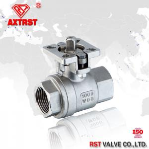 China 2 Piece type threaded ball valve with ISO5211 Direct Mounting Pad , manual / actuator available on sale