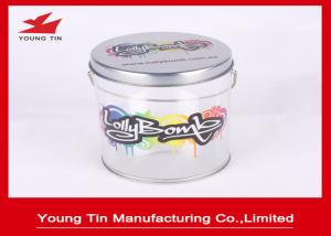 China Empty Cylinder Round Gift Tins , Sweet Packaging Color Printed Circle Gift Boxes on sale