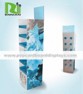 China Portable Recyclable cardboard floor display stand For Mineral Water Bottle on sale