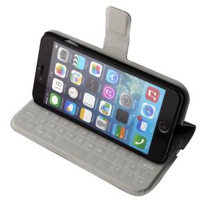 China Leather iPhone Bluetooth Keyboard Cover , Cell Phone Bluetooth Keyboard Case on sale