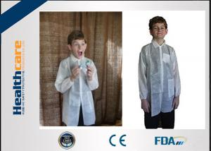 China Long Sleeve Light Weight Disposable Lab Gowns / Disposable Visitor Coats For Children on sale