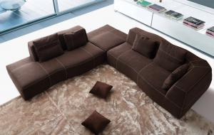 Quality High Density Modern Fabric Sofas Microfiber For Home Furniture / Living Room , for sale