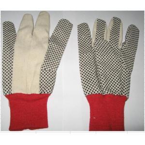 China Le PVC de toile de 6 onces t/c pointille le gant bon marché de gant de sergé de gant on sale