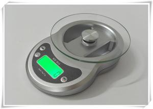 China Timer Function Kitchen Weight Scale , Tempered Glass Platform Portable Food Scale on sale